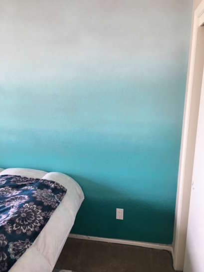 Ombre Accent Wall Painting 2 Edited